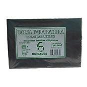 Bolsa Para Basura Negra 65 x 100 cm 6 Und