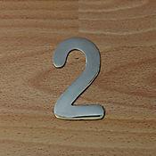 Número Niquel Satinado # 2