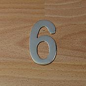Número Niquel Satinado # 6
