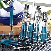 Cubiertos Dina 4 Puestos 16 Piezas Azul Cubiertero