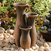 Fuente decorativa 3 vasijas altas
