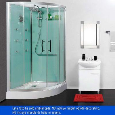 Cabina ducha 90 x 90 x 230 cm 5 mm tipo k con ducha, D ...