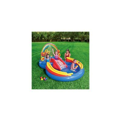 Piscina inflable arco ris con agua intex piscinas for Piletas inflables intex precios