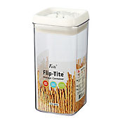 Tarro acrílico cuadrado 1.25 litros flip tite