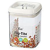 Tarro acrílico cuadrado 1.75 litros flip tite