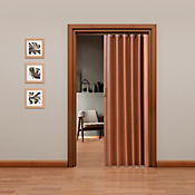 Puerta plegable PVC Tivoli Caoba 120 x 200 cm