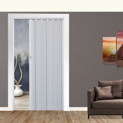 Puerta pl pvc milano blanco 90x200cm for Escalera plegable homecenter