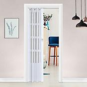 Puerta plegable PVC Lugano blanco 70 x 200 cm