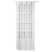 Puerta plegable PVC Lugano blanco 90 x 200 cm
