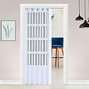 Puerta plegable PVC Lugano blanco 120 x 200 cm