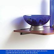 Soporte Negro Repisa Flotante 60 cm