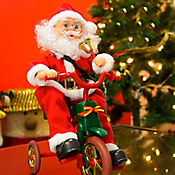 Santa en Bicicleta 35cm Pedaleo Dear Santa