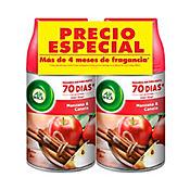 Ambientador Fresh Matic Manzana Canela 2 Und x 250 ml Cada Uno