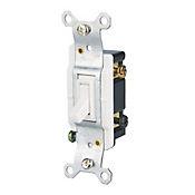 Interruptor conmutador sencillo blanco