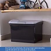 Caja De Archivo Negra con Tapa