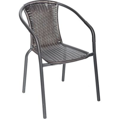Silla rat n negra matizado negro caf sillas homecenter for Columpio de terraza homecenter