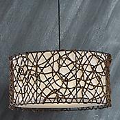 Lámpara colgante fibra chocolate