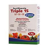 Fertilizante triple 15 balanceado 1 kilo