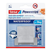 Gancho Autoadhesivo  Waterproof Duo Grande Silver X 1