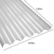 Teja ondulada perfil 7, policarbonato #6,  1.83 x 0.92 mt. espesor 0.7mm, transparente