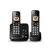 Teléfono Inalámbrico 2 Auriculares ID Altavoz Contestadora KX-TGC362LAB