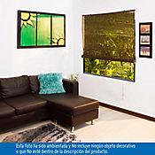 Persiana Enrollable 160x165 cm Bambú Wengue