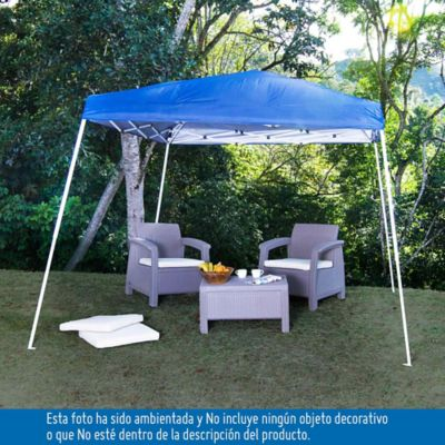 Toldo impermeable plegable 270 x 270 x 260 cm toldos for Escalera plegable homecenter