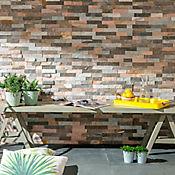 Piedra mosaico multicolor 60 x 15 cm cj 0,63 m2