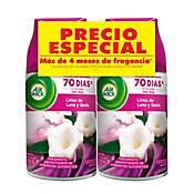 Ambientador Fresh Matic Lirios Seda 2 Und x 250 ml Cada Uno