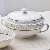 Sopera con tapa leaf cerámica