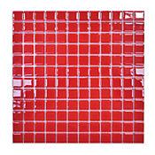 Mosaico vidrio rojo 4mm 30 x 30 cm unidad