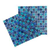 Mosaico vidrio agrietado azul 8mm 30 x 30 cm unidad