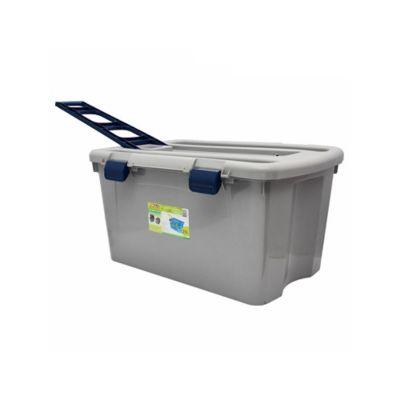 Caja pl stica con ruedas gris 120 litros rimax cajas - Baules con ruedas ...