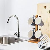 Grifería lavaplatos sencilla mesón vertical