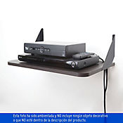 Repisa práctica dvd wengue 48 x 30 cm 2 soportes