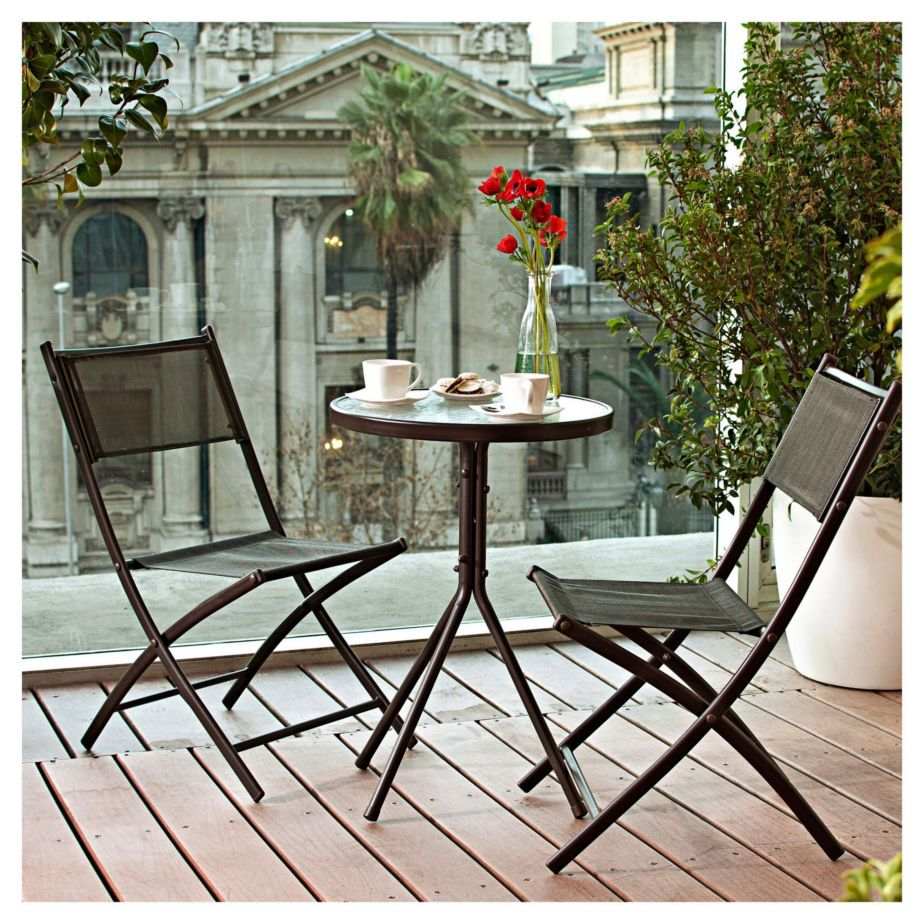 Set para balc n capuccino for Columpio de terraza homecenter