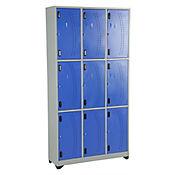 Locker metálico 9 puestos azul de 180x93x30 cm