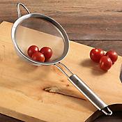 Colador 14 cm acero mango ovalado