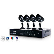 Kit seguridad doméstico 4 Cámaras DVR 500 GB ip