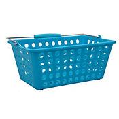 Canasta plástica con manija  29.5x18x12.5 cm Azul