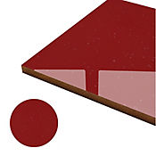Tablero rojo  poliuretano 18mm 244 x 122 cm