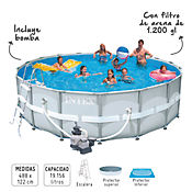 Piscina estructural 488 x 122 cm con filtro homecenter for Piscina estructural intex