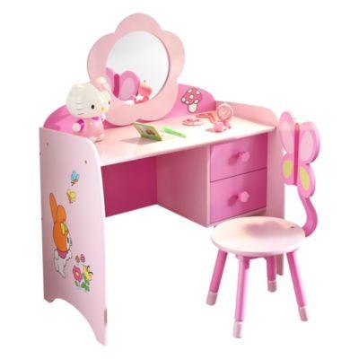 Escritorio infantil silla rosa escritorios for Escritorio infantil