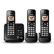 Teléfono Inalámbrico 3 Auriculares ID Altavoz Contestadora KX-TGC363LAB