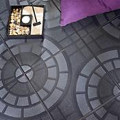 Piso Acera Negra 32x32 cm Caja 1.56 m2