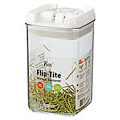 Tarro 395 ml mini cuadrado acrílico flip tite