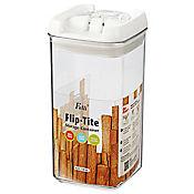 Tarro 450 ml mini cuadrado acrílico flip tite
