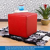 Puff Ontario 40x40x38 cm Rojo