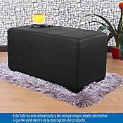 Puff Ontario Doble 38x80x40 cm Negro