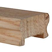 Pasamanos pino natural 6.5 x 4 cm 1.5m FJ